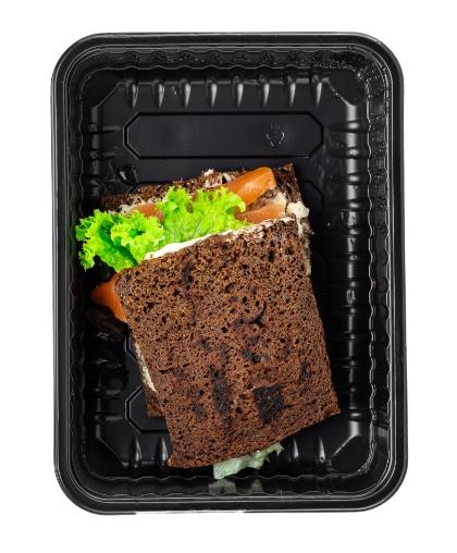 Сэндвич с малосольной семгой